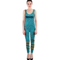 Wonderful Decorative Design With Floral Elements Onepiece Catsuits