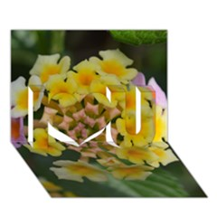 Colorful Flowers I Love You 3d Greeting Card (7x5)