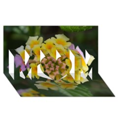 Colorful Flowers Mom 3d Greeting Card (8x4)