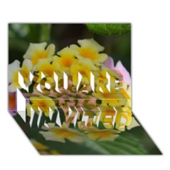 Colorful Flowers YOU ARE INVITED 3D Greeting Card (7x5)