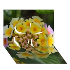 Colorful Flowers Clover 3d Greeting Card (7x5)