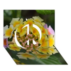Colorful Flowers Peace Sign 3D Greeting Card (7x5)