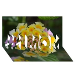 Colorful Flowers #1 Mom 3d Greeting Cards (8x4)