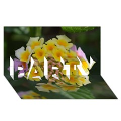 Colorful Flowers Party 3d Greeting Card (8x4)