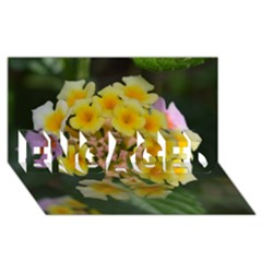Colorful Flowers Engaged 3d Greeting Card (8x4)