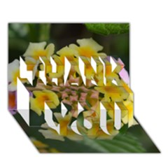 Colorful Flowers THANK YOU 3D Greeting Card (7x5)