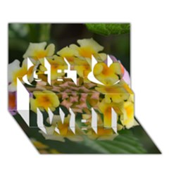 Colorful Flowers Get Well 3d Greeting Card (7x5)