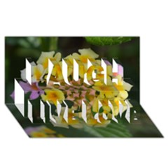 Colorful Flowers Laugh Live Love 3d Greeting Card (8x4)