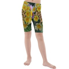 Colorful Flowers Kid s swimwear