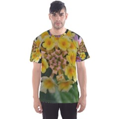 Colorful Flowers Men s Sport Mesh Tees