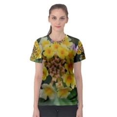 Colorful Flowers Women s Sport Mesh Tees