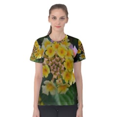 Colorful Flowers Women s Cotton Tees