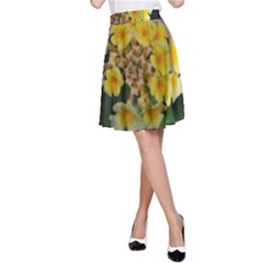 Colorful Flowers A-Line Skirts