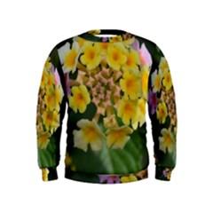 Colorful Flowers Boys  Sweatshirts