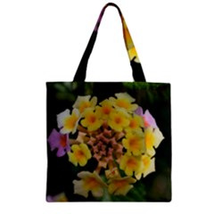 Colorful Flowers Zipper Grocery Tote Bags