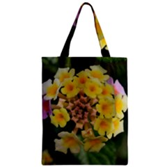Colorful Flowers Zipper Classic Tote Bags