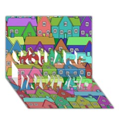 House 001 YOU ARE INVITED 3D Greeting Card (7x5)