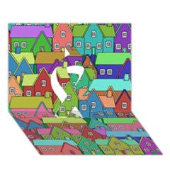 House 001 Ribbon 3D Greeting Card (7x5)