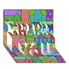 House 001 THANK YOU 3D Greeting Card (7x5)
