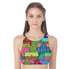 House 001 Tank Bikini Top
