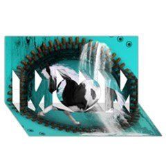 Beautiful Horse With Water Splash  MOM 3D Greeting Card (8x4)