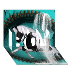 Beautiful Horse With Water Splash  BOY 3D Greeting Card (7x5)