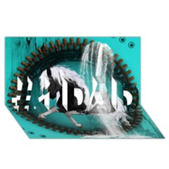 Beautiful Horse With Water Splash  #1 Dad 3d Greeting Card (8x4)