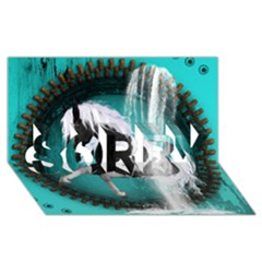 Beautiful Horse With Water Splash  SORRY 3D Greeting Card (8x4)