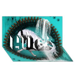 Beautiful Horse With Water Splash  Hugs 3d Greeting Card (8x4)