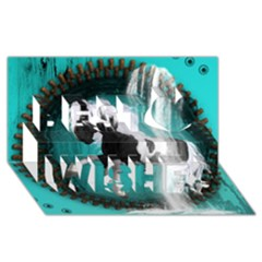 Beautiful Horse With Water Splash  Best Wish 3D Greeting Card (8x4)