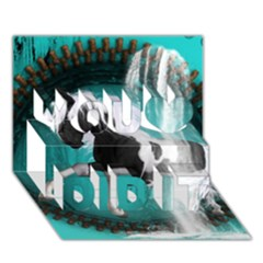 Beautiful Horse With Water Splash  You Did It 3D Greeting Card (7x5)