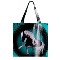 Beautiful Horse With Water Splash  Zipper Grocery Tote Bags
