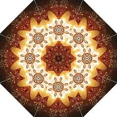 Elegant, Decorative Kaleidoskop In Gold And Red Folding Umbrellas