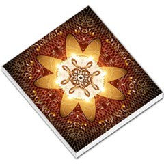Elegant, Decorative Kaleidoskop In Gold And Red Small Memo Pads
