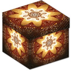 Elegant, Decorative Kaleidoskop In Gold And Red Storage Stool 12
