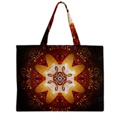 Elegant, Decorative Kaleidoskop In Gold And Red Zipper Tiny Tote Bags