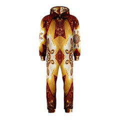 Elegant, Decorative Kaleidoskop In Gold And Red Hooded Jumpsuit (Kids)