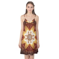 Elegant, Decorative Kaleidoskop In Gold And Red Camis Nightgown