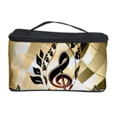 Clef With  And Floral Elements Cosmetic Storage Cases
