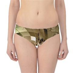 Clef With  And Floral Elements Hipster Bikini Bottoms