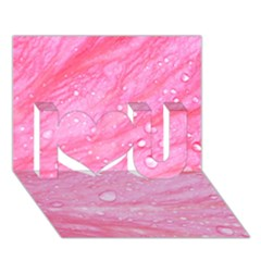 Pink I Love You 3D Greeting Card (7x5)