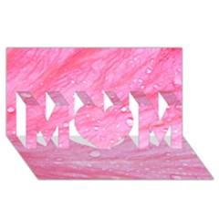 Pink MOM 3D Greeting Card (8x4)