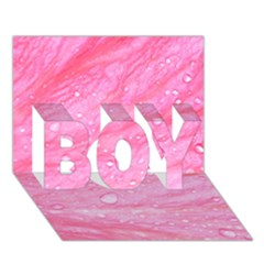 Pink BOY 3D Greeting Card (7x5)