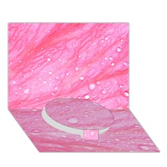 Pink Circle Bottom 3D Greeting Card (7x5)