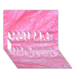 Pink YOU ARE INVITED 3D Greeting Card (7x5)