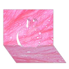 Pink Apple 3D Greeting Card (7x5)