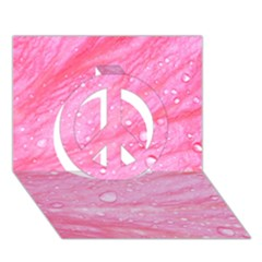 Pink Peace Sign 3D Greeting Card (7x5)