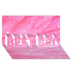 Pink BEST BRO 3D Greeting Card (8x4)