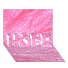 Pink Hope 3d Greeting Card (7x5)