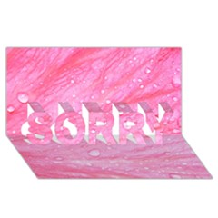 Pink SORRY 3D Greeting Card (8x4)